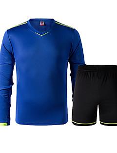 男性用 サッカー トラックスーツ 高通気性 快適 夏 スポーツ テリレン サッカー ホワイト ブルー