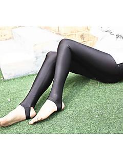 Feminino Cor Única Fino Poliéster Cor Única Legging,Este modelo é fiel ao tamanho.