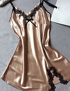 Women's Satin & Silk Nightwear,SexyThin Polyester