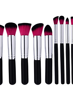 10 Brush Sets Nylonkwast Professioneel Hout Gezicht