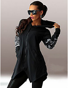 Cubol  Women's Print Black / Gray Sweats & Hoodies , Sexy / Casual Hoodie Long Sleeve