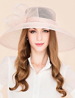 Pană Tul Diadema-Nuntă Ocazie specială Informal Pălărioare Pălării/Căciuli 1 Bucată