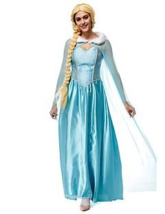 Cosplay-Asut Prinsessa Kuningatar Elokuva Cosplay Sininen Leninki Headwear Halloween Karnevaali Uusi vuosi Naiset Teryleeni