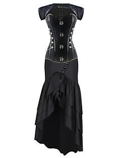 여성 오버버스트 코르셋 잠옷,섹시 Kontor/företag 프린트-여성의 중간 면