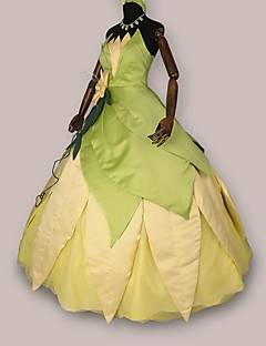 Cosplay Costumes / Party Costume The Princess and the Frog Tiana Green and White Dress Halloween Costume(2 Pieces)