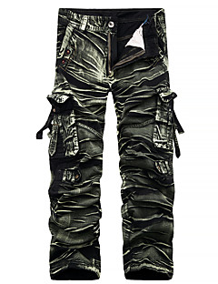 Men's Mid Rise Inelastic Chinos Pants,Simple Street chic Active Straight Camouflage