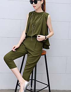Femme Chic de Rue Taille Normale Travail Décontracté / Quotidien Combinaison-pantalon,Sarouel Plissé Mosaïque Eté
