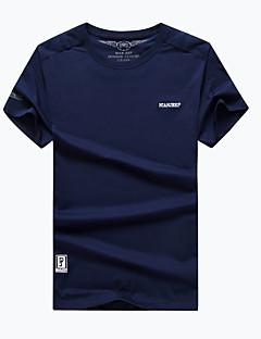 Miesten T-paita vaellukseen Nopea kuivuminen Hengittävä T-paita varten Retkeily ja vaellus Kalastus Kesä L XL XXL XXXL XXXXL