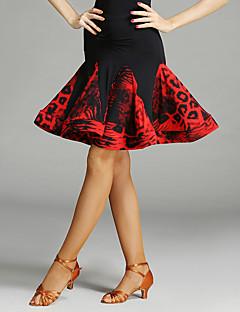 Latinské tance tutu a sukně Dámské Taneční vystoupení Spandex Čínský nylon Zvířecí potisk Nařasený Jeden díl Bez rukávů Přírodní Sukně