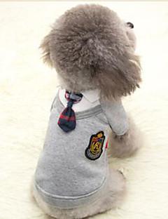 コート スウェットシャツ ジャンプスーツ 犬用ウェア キュート コスプレ カジュアル/普段着 スポーツ ブリティッシュ グレー ピンク