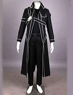Zainspirowany przez Sword Art Online Kirito Anime Kostiumy cosplay Garnitury cosplay Jendolity kolor Černá Długi rękawPłaszcz Spodnie