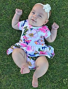 Baby Einzelteil Modisch Blumen Vintage Baumwolle Sommer ½ Pant