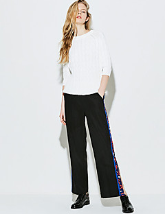 Femme Street Chic Taille haute strenchy Ample Pantalon,Ample Couleur Pleine
