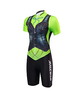 Macacão para Triathlon Mulheres Manga Curta Moto TriatloDesign Anatômico Permeável á Humidade Zíper Frontal Alta Respirabilidade