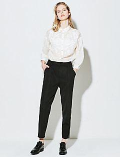 Femme Street Chic Taille Haute strenchy Chino Pantalon,Large Couleur Pleine