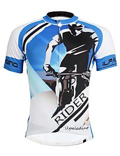 Jerseu Cycling Bărbați Bărbătesc Manșon scurt Bicicletă Jerseu TopuriCiclism Uscare rapidă Rezistent la Ultraviolete Compresie Material