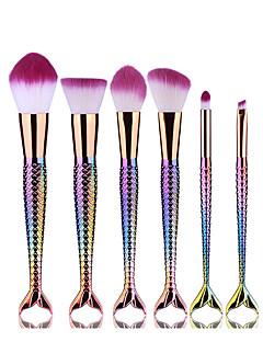 6 Contour Brush Brush Sets Blushkwast Oogschaduwkwast Eyelinerkwast Wimperkwast Verfkwast Poederkwast Aanbrengspons Foundationkwast