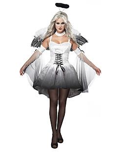 תחפושות קוספליי כנפיים כיסוי ראש תחפושת למסיבה מלאך ושטן פסטיבל/חג תחפושות ליל כל הקדושים לבן/שחור וינטאג' Other שמלות כנפיים אביזרים