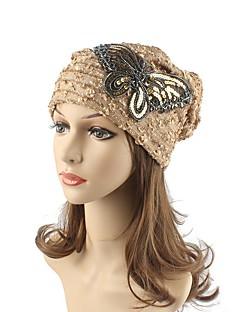Damen Kopfbedeckung Niedlich Freizeit Schick & Modern Lässig/Alltäglich Strickware Herbst Winter Baumwolle Beanie Schlapphut,Gestreift