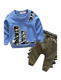Bebek Çocuk Dış Mekan Spor Günlük/Sade Spor Kıyafet Seti,Karikatürlü İlkbahar/Kış