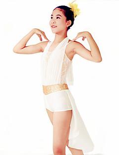 Jazz Justaucorps Femme Enfant Spectacle Elasthanne Polyester Au drapée Ceinture/Ruban 2 Pièces Sans manche Taille moyenneCollant