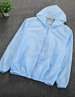 Damen Solide Einfach Lässig/Alltäglich Mantel / Capes,Mit Kapuze Sommer Lange Ärmel Standard Polyester