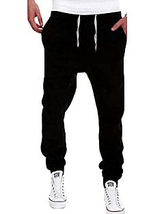 Homme Actif Taille médiale strenchy Skinny Pantalon,Mince Couleur Pleine