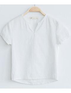Jungen T-Shirt einfarbig Druck Baumwolle Sommer Kurzarm Normal