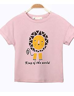 男の子 プリント ゼブラプリント コットン Tシャツ 夏 半袖 レギュラー