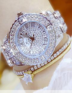 Damen Kleideruhr Modeuhr Armbanduhr Armband-Uhr Einzigartige kreative Uhr Armbanduhren für den Alltag Simulierter Diamant Uhr Pavé-Uhr