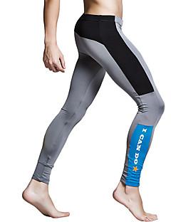 Homens Leggings de Corrida Anti-desgaste Respirabilidade Meia-calça para Correr Exercício e Atividade Física Poliéster Terylene Apertado