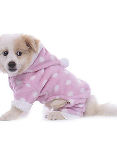 Köpek Pijamalar Köpek Giyimi Günlük/Sade Benekli Kumaşlar Mavi Pembe