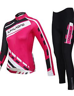 ILPALADINO Calça com Camisa para Ciclismo Mulheres Unisexo Manga Longa Moto Meia-calça Conjuntos de Roupas Prova-de-Água Secagem Rápida A