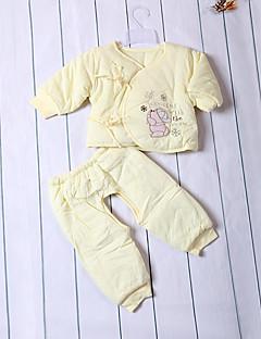 bébé Enfant Naissance Baptême Décontracté / Quotidien Couleur unie Ensemble de Vêtements,Dentelle Toutes les Saisons