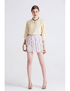 Damen Einfach Niedlich Ausgehen Lässig/Alltäglich Urlaub Mini Röcke Schlank,Schlank Tüll Spitze Rüsche einfarbig Sommer