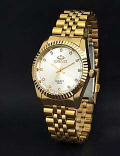 CHENXI® Masculino Relógio de Pulso Quartzo Quartzo Japonês Relógio Casual Aço Inoxidável Banda Dourada Dourado Branco Preto