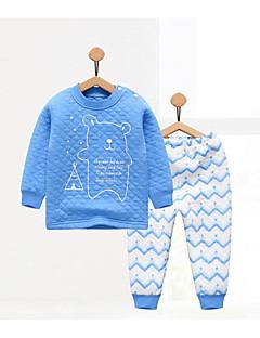 bebê Infantil Casual Geométrico Conjunto Outono Inverno