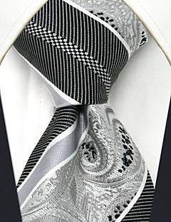 Для мужчин Винтаж Для вечеринки Для офиса На каждый день Офисный Высокое качество Мода Галстук,Все сезоны Шёлк В полоску