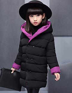 Genç Kız Polyester Kırk Yama Sonbahar Kış Uzun Kol Şişme ve Pamuk Pedli