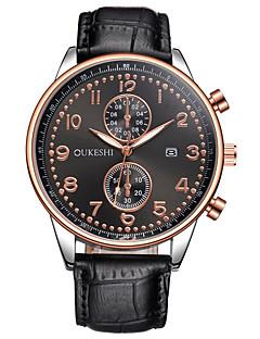 Herrn Kleideruhr Modeuhr Armbanduhr Einzigartige kreative Uhr Armbanduhren für den Alltag Chinesisch Quartz Kalender Großes Ziffernblatt