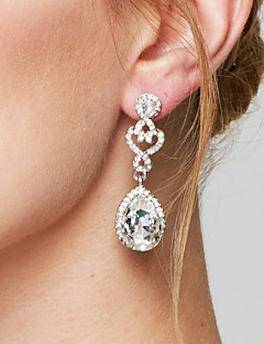 Women's Drop Earrings Earrings Fashion Elegant Bridal Costume Jewelry Imitation Diamond Alloy Drop Jewelry For Wedding Party Anniversary
