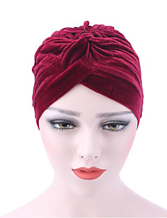 כובע עם שוליים רחבים דפוס כותנה קיץ/אביב חורף כובע נשים צבע טהור