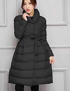 コート ロング ダウン レディース,カジュアル/普段着 ソリッド コットン ポリプロピレン-シンプル 長袖