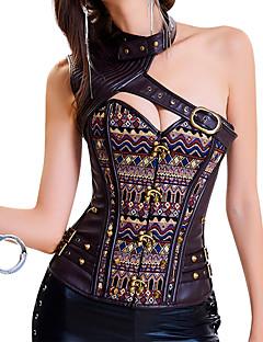 여성용 오버버스트 코르셋 잠옷,섹시 푸시 업 Kontor/företag 자카드 면