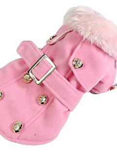 Hund Mäntel Hundekleidung Lässig/Alltäglich Amerikaner / USA Beige Grau Gelb Rot Rosa