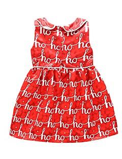 bebê Vestido Fashion Algodão Poliéster-Verão