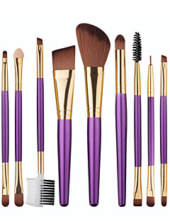 1set Brush Sets Blushkwast Oogschaduwkwast Lippenkwast Wenkbrauwkwast Eyelinerkwast Eyelash Brush Aanbrengspons Foundationkwast