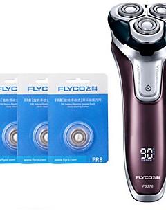 flyco fs376 rasoir rasoir électrique trois têtes de rechange 100240v charge rapide lavable