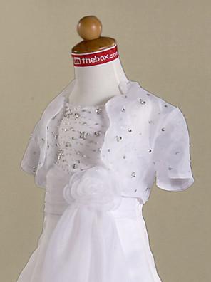 tričko s krátkými rukávy organza květin bunda / svatební zábal (70272)