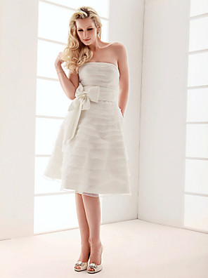 Lanting Bride A-line / Princess Petite / Plus Sizes Wedding Dress Knee-length